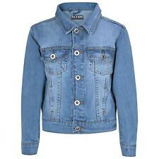 Kids Boys Designer Blue Denim Jeans Jackets Fashion Jacket Coat New Age 3-13 Yr