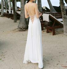 Vestito Lungo Copricostume Donna Schiena Nuda Woman Maxi Cover up Dress 110284