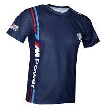 BMW M Power Motorsport Blue Color high quality graphic sublimated men's t-shirt