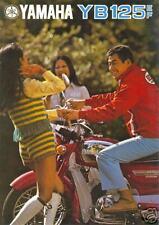 YAMAHA Brochure YB125 YB125E 1973 1974 Sales Catalog ORIGINAL OEM