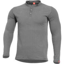 Pentagon Romeo Henley Shirt Police Security Tactical Mens Cotton Top Wolf Grey