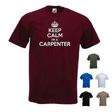 """""""KEEP CALM I'M un falegname"""" CARPENTERIA FALEGNAMERIA FUNNY T-SHIRT TEE"""