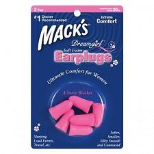 New Macks Dreamgirl Soft Foam Ear Plugs (NRR 30) (3 Pairs)