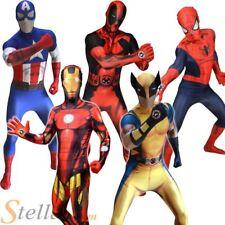 Mens Adult Marvel Zappar Morphsuit Superhero Halloween Fancy Dress Costume