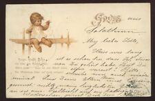 Switzerland Gruss aus SOLOTHURN Child Baby smoking rings 1900 u/b PPC
