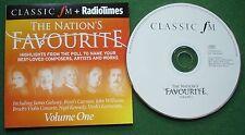 Radio Times Classic FM Nation's Favourite Vol 1 inc Bruch Violin Concerto + CD