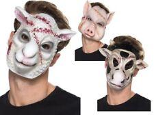 Asesino Máscara de Animal Hombre Mujer Halloween Terror Animales Máscara