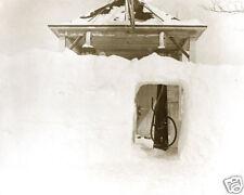 Vintage Gas Station Snowstorm Tunnel To Antique Visable Gas Pumps Calumet MI