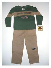 Sweatshirt mit Freizeithose Set von Harley Davidson mit Stickmotiv grün/braun