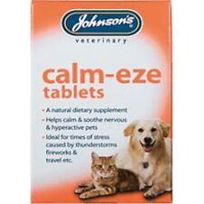 JOHNSON'S VET CLAM-EZE TABLETS DOG CAT CALM STRESS AGGRESSION FIREWORKS THUNDER