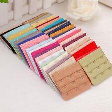 3x Ladies Bra Extender Bra Extension Strapless Underwear Strap 3 Hooks 11 Colors
