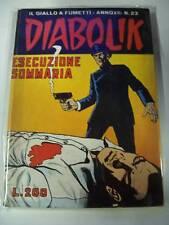DIABOLIK PRIMA SERIE ORIGINALE INEDITO-ANNO XII-ESECUZIONE SOMMARIA-N° 23