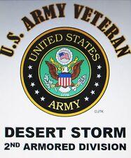 DESERT STORM  2ND ARMORED DIVISION *U.S.ARMY VETERAN W/ARMY EMBLEM*SHIRT