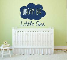 Dream Big Little One, Wall Art Sticker, Mural, Decal. Children, Bedroom, Nursery