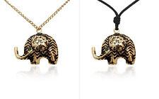 Aztec Elephant Handmade Brass Necklace Pendant Jewelry
