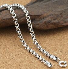 A07 Zopfkette buddhistisch Silber 925 Vajra 6-Wort-Mantra 3 mm Länge wählbar