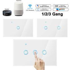 Smart Light Switch WIFI Wall Touch Panel Socket Alexa Google Home US