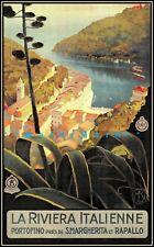 La Riviera Italienne 1927 Vintage Poster Print Retro Style Travel Art Wall Decor