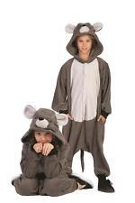 GREY GIANT MOUSE RAT CHILD COSTUME ANIMAL PAJAMAS JUMPSUIT KIDS FUNSIE BOYS GIRL