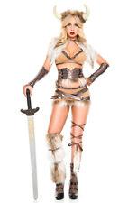 Music legs womens furry Viking waist cincher costume