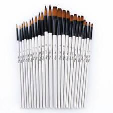 12PCS Artist Watercolor Painting Brushes Brush Oil Acrylic Flat&Tip Paint Kit CN