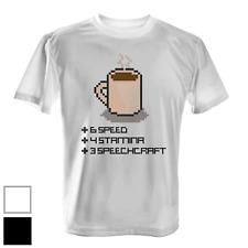 8 Bit Coffee Herren T-Shirt Spruch Geschenk Idee Pixel Art Kaffee Gamer Gaming