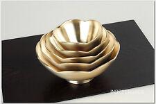 [by Artisan Kyung-Su Kim]Korean Bangjja Yugi Flower Dessert Bowls