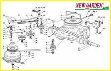 demonté transmission rouler sur la tondeuse 92cm XG 140 CASTELGARDEN GGP STIGA