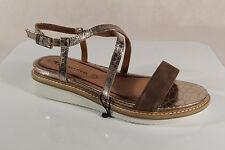 Damen Sandale Sandalen Sandaletten braun Plateausohle 28506 NEU!