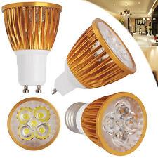 9W 12W 15W Dimmable LED Spotlight GU10 MR16 E27 E14 Golden Shell Bulbs 110V 220V
