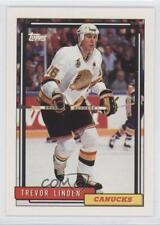 1992-93 Topps #499 Trevor Linden Vancouver Canucks Hockey Card