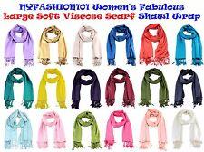 Brand New! NYFASHION101® Women's Fabulous Large Soft Viscose Scarf Shawl Wrap