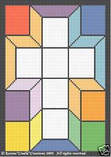 STAINED GLASS CROSS Crochet Graph Pattern SCRAP YARN