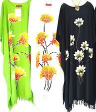 New LOTUS Buttersoft Handmade Floral Kaftan Dress OneSize Plus White Black Green