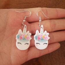Cute Pretty Trendy Unicorn Dangle Drop Earring 6 Colours