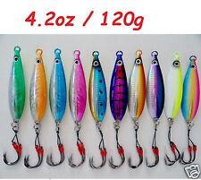 One (1) Fall Flat Keel 120g (4.2oz) Vertical Knife Jigs Choose Colors