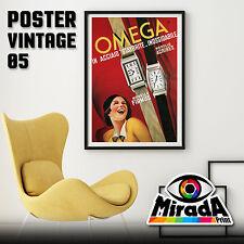 POSTER VINTAGE OMEGA OROLOGIO CLOCK  CARTA FOTOGRAFICA 35x50 50x70 70x100