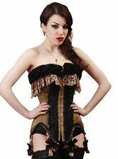 Corsage Vaudeville Olivgrün Burlesque Gothic Mieder