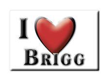 SOUVENIR UK - ENGLAND FRIDGE MAGNET UNITED KINGDOM I LOVE BRIGG (LINCOLNSHIRE)