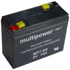 Bleiakku Blei Gel Akku Multipower MP7-6S Longex 0LS-7.2  Long WP7-6S 6V 7,0 Ah