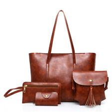 4PCS Women Composite Bag Handbags Messenger Cross body Tote Shoulder Bags Purse