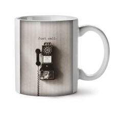 Telefonata Retrò Vintage Nuovo White Tea Tazza da caffè 11 OZ | wellcoda