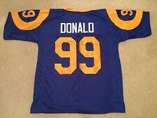 UNSIGNED CUSTOM Sewn Stitched Aaron Donald Blue Jersey - M, L, XL, 2XL