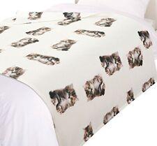 Dreamscene Couvre-lit imprimé chat couverture, couvre-lit, beige/blanc/imprim...