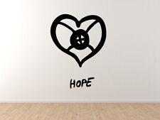 Adinkra Akan #2 - Hope Heart African Sign Symbology - Vinyl Wall Decal Art