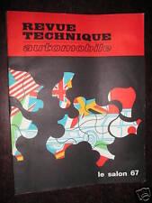 Revue technique RTA LE SALON 1967 NOUVEAUTES 1968 RTA 258