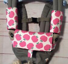 Ergo teething pads bib pink apples bright owls for Ergo 360 carrier