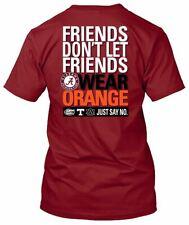 NCAA Alabama Friends Don't Let Friends Wear Orange Short Sleeve T-shirt