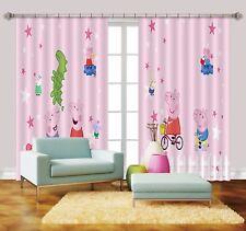 3D Pink Pecs Pig 861 Blockout Photo Print Curtains Drapes Fabric Window UK Carly