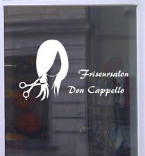 Friseur Salon Logo Schaufensterbeschriftung Aufkleber Werbung Laden Geschäft